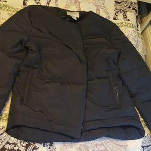 H&M dark blue puffer jacket. So warm!!! Worn once
